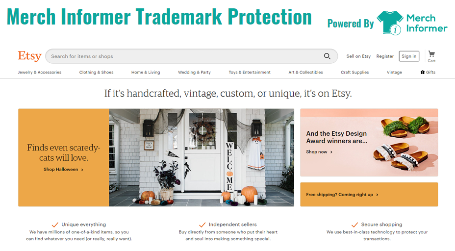 Merch Informer Trademark Protection Now Live On Etsy